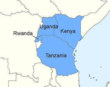 africa map kenya uganda